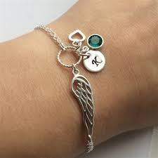 sympathy gifts angel wing bracelet