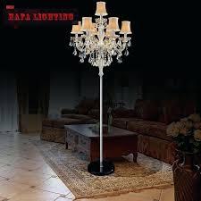 chandelier standing lamp popular chandelier floor lamps chandelier floor lamps with regard to crystal