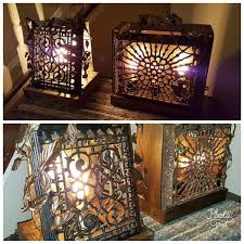 repurposed lighting. Glow Of History - Repurposed Antique Cast Iron Heating Grate, Vintage Lighting, Handmade Metalwork Lighting