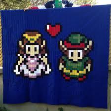 I finally finished my Link and Zelda quilt this past weekend, and ... & I finally finished my Link and Zelda quilt this past weekend, and I thought  you Adamdwight.com