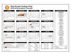 Academic Calendar East Austin College Prep