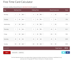 timecard hours free time card calculator reviews and pricing 2018