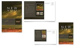 Art Gallery & Artist Postcard Template Design