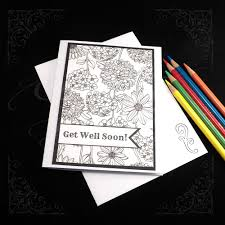 Get Well Soon Coloring Card Elegantlyhaunted Com