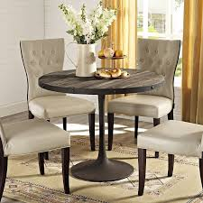 restoration hardware round table modway drive wood top dining table in brown kitchen