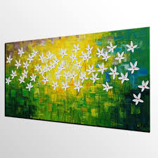 Painting Canvas Abstract Art Flowe Painting Kitchen Wall Art Abstract Painting