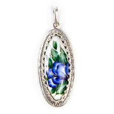bluebell finift enamel pendant