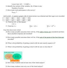 Solved Stem And Leaf Of Leaf Unit 1 0 Iq 84 Chart Of Inco