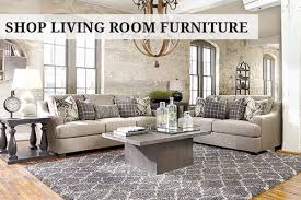 Ashley Furnitures Living Room text overlay