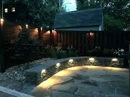 outdoor fence lights backyard lighting designs installation fixtures uk