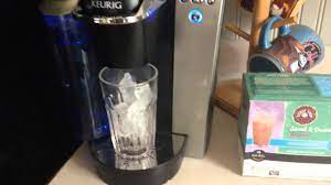 We recommend a basic brew k cup. How To Make Brew Ice Coffee In Keurig K Cup Coffee Brewer Maker Youtube