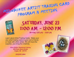 how to make your own trading cards alice baker library milwaukee artist trading card program and