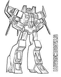 Small Picture Starscream Transformers Coloring Page Transformer Coloring Pages