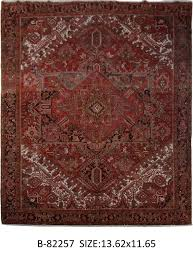 details about hand knotted rug 12 x 14 persian heriz affordable rugs color abrash red