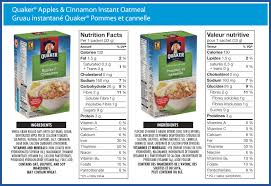 quaker apples cinnamon instant oatmeal