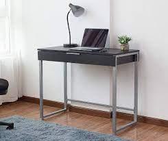 black silver 1 drawer desk big lots