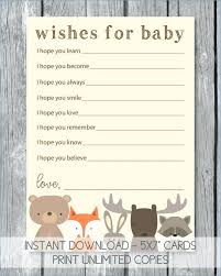 Wishes For Baby Template Wishes For Baby Tribal Arrows The Boy Shower Dear Template