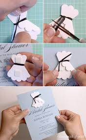 3d paper wedding dress diy bridal shower invitation print
