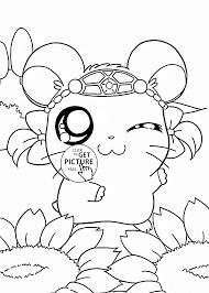Cute Hamtaro Coloring Page For Kids Manga Anime Coloring Anime Cute Coloring Pages For Toddlersl L