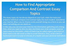 compare and contrast essay topics 6 the essay topics