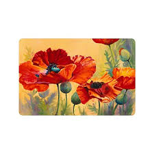 next beautiful red poppy flower art custom doormat entrance mat floor mat rug indoor outdoor