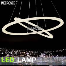 meerosee modern led ring chandelier light fixture led circle suspension light high quality md5000 led lighting led pendant lights