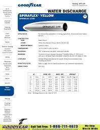 Goodyear Spiraflex Yellow Spiraflex 2700 Heavy Duty Lay Flat