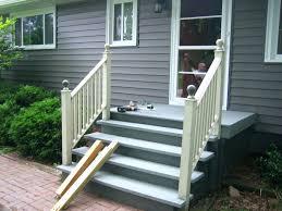 prefab outdoor wooden stairs stair railings hand for steps deck design ideas fab exterior metal landing prefab outdoor stair