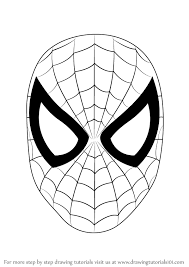 learn how to draw spiderman face