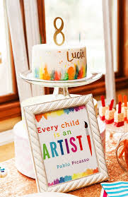 an art party is the perfect birthday party for your budding artist includes cute birthday