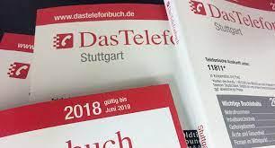 Das Telefonbuch Stuttgart