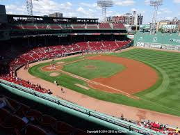 Boston Red Sox Seating Chart View Fenway Park View From Pavilion Club 11 Vivid Seats