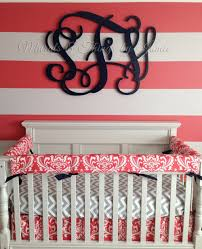 neoteric wood monogram wall decor in the nursery sign decal initial for script circle