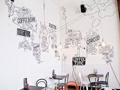 on cafe wall art design with wall art pinterest walls brewery interior and cafe wall