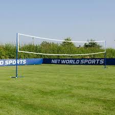 Freestanding Badminton Volleyball Combi Posts Optional Nets Portable Steel Posts