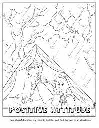 Small Picture Positive Attitude Coloring Page Wolf Cub Achievement 6a Ideas