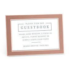 Sign Book For Wedding Personalized Sign Our Guestbook Sticker Sign For Wedding Guest Book Rustic Love