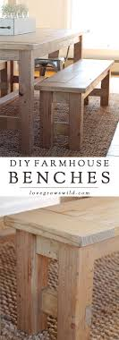 build dining room table. Learn How To Build An Easy DIY Farmhouse Bench - Perfect For Saving Space In A Dining Room Table O