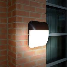 eterna 30w cool white led outdoor wall pack light with dusk to dawn sensor lighting direct