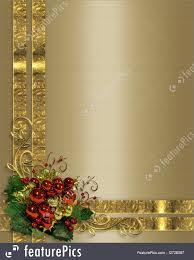 Christmas Background Gold Ribbons Royalty Free Stock Illustration