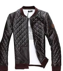 Cheap Warm Quilted Jacket, find Warm Quilted Jacket deals on line ... & Get Quotations · Mens Motor Biker Warm Quilted Pu Leather Jacket Warm Coat  Outwear Padded Adamdwight.com