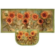 sunflower kitchen rugs mats floor washable rubber backed rug sets area memory foam mat sunflower kitchen rugs runner and carpet comfort throw gel bacova