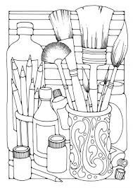 Coloring Page Brushes Img 15818 Design Kids Design Kids