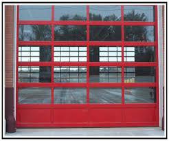 aluminum garage doorFull view commercial garage doors North Texas commercial garage doors