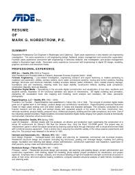 Automobile Resume Samples Mechanical Engineer Format Engineering
