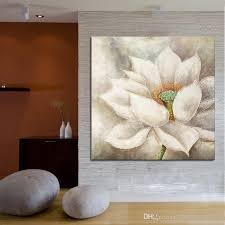 white lotus flower wall art