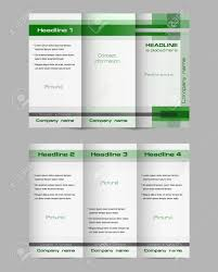 Tri Fold Brochure Layout Tri Fold Brochure Layout Vector Template Of Both Sides Geometric