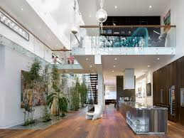 Interior  Modern Custom Home With Central Atrium And Interior - Custom home interiors
