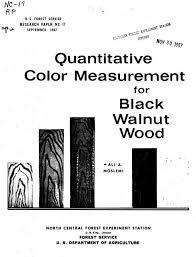 Quantitative Color Measurement For Black Walnut Wood Woodweb