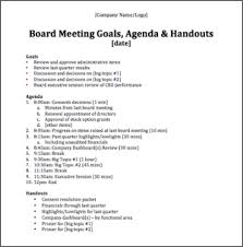 29 Images Of Sample Board Meeting Agenda Template Bfegy Com